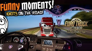 Euro Truck Simulator 2 Multiplayer | Funny Moments & Crash Compilation | #45