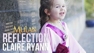 Reflection (Mulan) - Claire Ryann at 3 Years Old