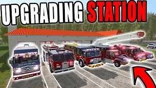 EXPANDING TO A NEW  FIRE STATION   FARMING SIMULATOR 2017