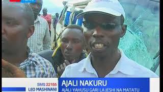 Watu watatu akiwemo afisa wa polisi na mwanafunzi wafariki dhidi ya ajali barabara kuelekea Kabarnet