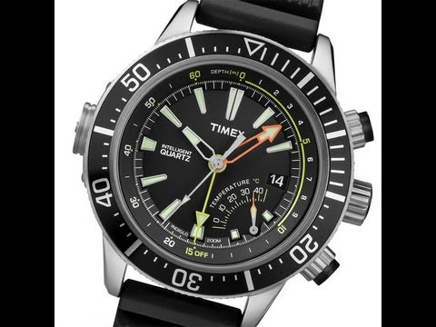 Timex Depth Gauge T2N810 Intelligent Quartz Taucheruhr diver's watch