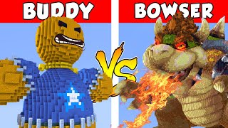 KICK THE BUDDY vs BOWSER – PvZ vs Minecraft vs Smash