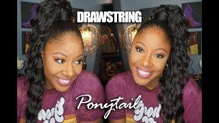 Deep Wave Drawstring Ponytail