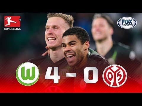 NÃO TEVE PENA! Veja o atropelo do Wolfsburg sobre o Mainz na Bundesliga