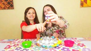 """ЧЕЛЛЕНДЖ ЯЙЦА """"Найди пасхальное яйцо"""" Яйца с неожиданным сюрпризом)Инна и Люда"""
