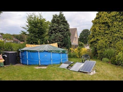 Pool Heizung durch Sonnenenergie