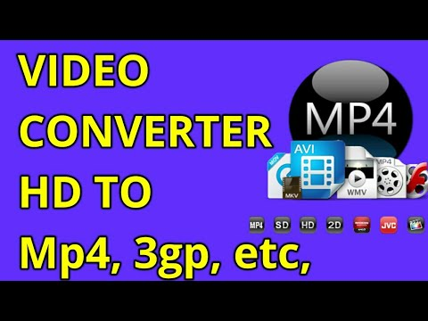 How to Convert Hd Video To Low Quality video, and Mp4 to 3gp and Mp3 formats |