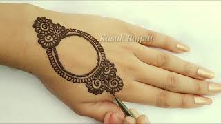 Simple Arabic Henna Mehndi Designs 2018 | How To Apply Henna Design |