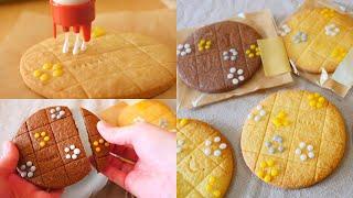Icing Stamp Cookies ダイソーのデコレーションスタンプで今度はアイシングクッキーを作る
