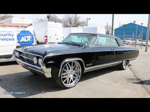 WhipAddict: College Park Customs Shop Visit, 64' Oldsmobile 98 Coupe on Forgiato 26s