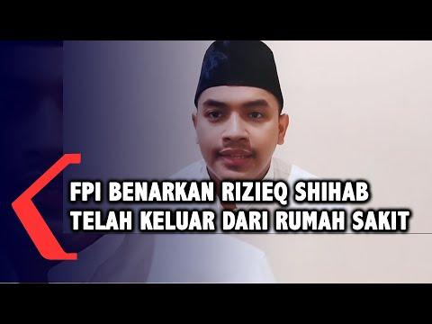 fpi konfirmasi rizieq shihab telah keluar dari rumah sakit