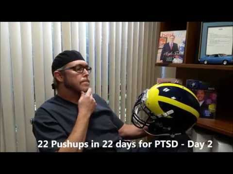 Dr. Anderson does 22 pushups in 22 days challenge....Day 2