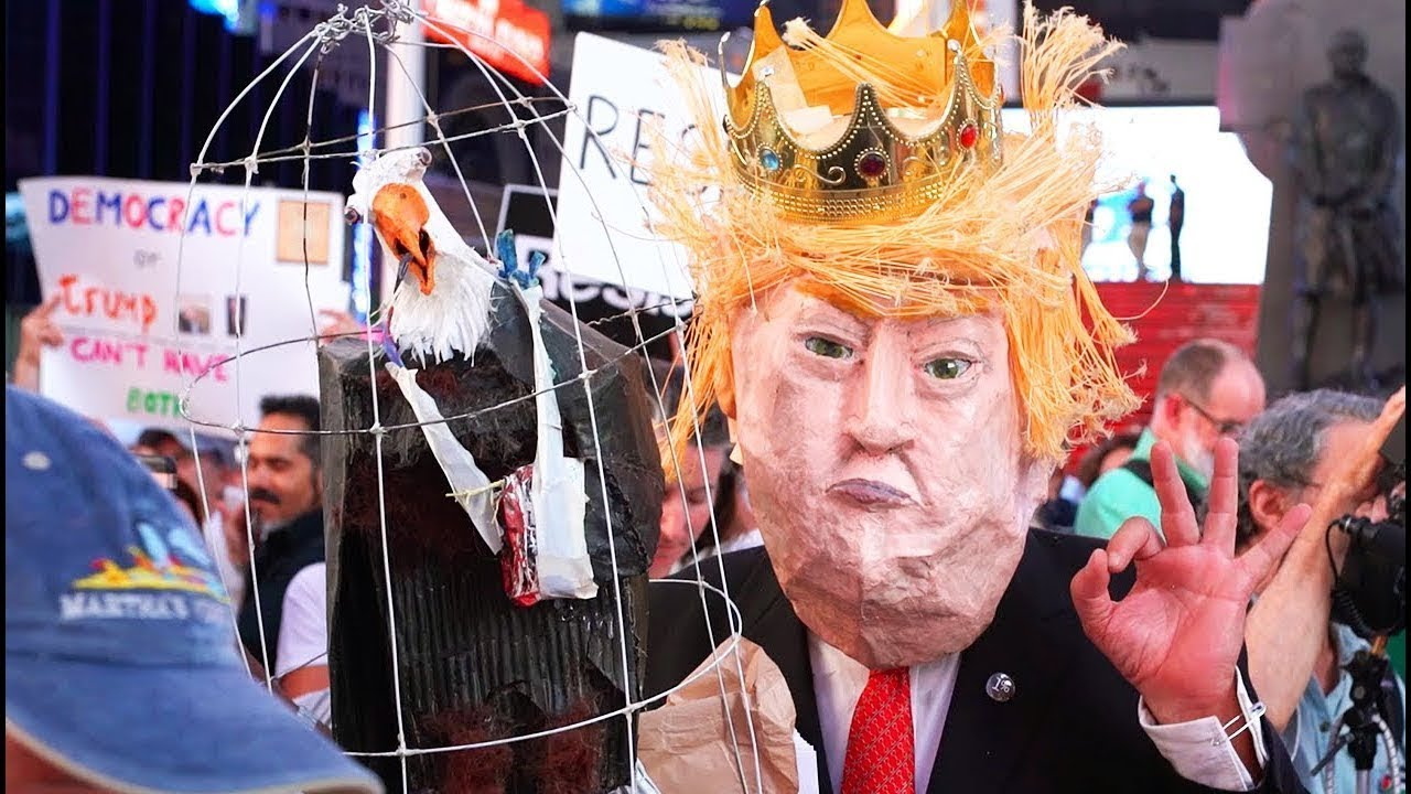 Trump's Corruption CALLED OUT In New York Protests thumbnail