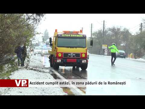 Accident cumplit astăzi, în zona pădurii de la Românești