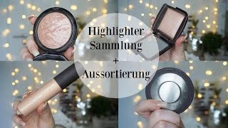 HIGHLIGHTER SAMMLUNG | DECLUTTER - MAC | BECCA | NYX | COLOURPOP