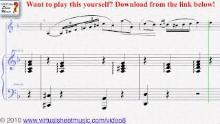 """Monti's Czardas, """"Easy Gypsy Airs"""" piano and violin sheet music - Video Score"""