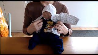Wir basteln in 6 Minuten eine  einfache Babypuppe für den Babyführerschein® oder Geschwister-Kurs