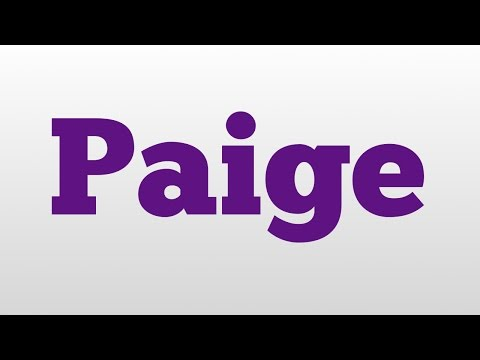Paige meaning and pronunciation