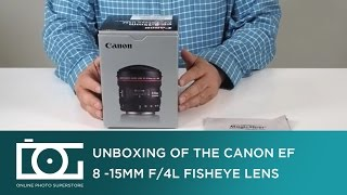 UNBOXING REVIEW | CANON EF 8-15mm f/4L Fisheye USM Ultra Wide Zoom Lens | Video