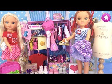 Muñeca NANCY su ARMARIO COMPLETO Nuevos accesorios ropa vestidos zapatos Muñecas Barbie