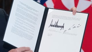 Details of Donald Trump-Kim Jung Un agreement in Singapore