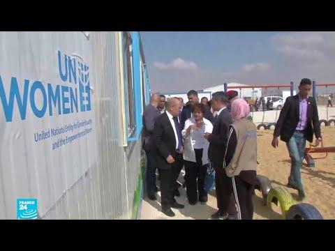 العرب اليوم - شاهد:وزير الخارجية الفرنسي يتفقد مشروع