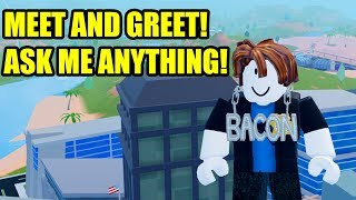 MyUsernamesThis MEET AND GREET LIVE | ASK ME ANYTHING! | Roblox Jailbreak Live