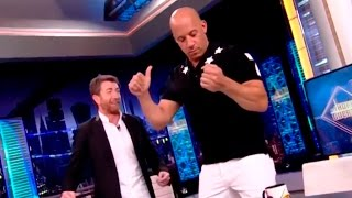 """Vin Diesel baila al ritmo de Nicky Jam """"El Amante"""" y anuncia cancion con el"""