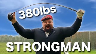 How Far Can The WORLDS STRONGEST MAN Hit A Golf Ball? EDDIE HALL