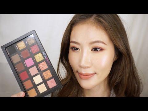 Celeste Wu 大沛 | Huda Beauty 玫瑰金眼影盤心得&妝容