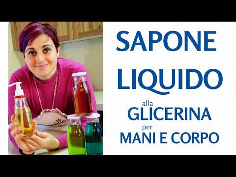SAPONE LIQUIDO ALLA GLICERINA PER MANI E CORPO  FATTO IN CASA - Homemade Glicerine Liquid Soap