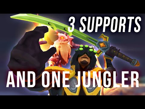 3 SUPPORTS, NO MIDLANER AND JUNGLE MASTER YI VERSUS THE WORLD
