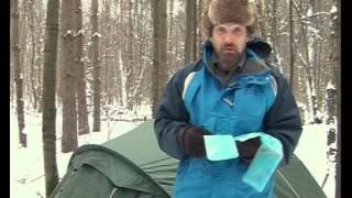 Смотреть онлайн Ночевка в палатке зимой