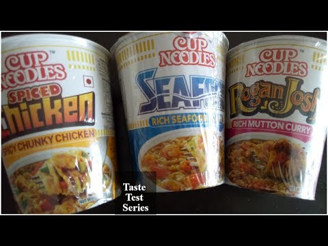 Cup Noodles Taste Test  || Tasting 3 different flavours (Non Veg)
