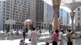 preview picture of video 'Water Fans in Masjid Nabwi'