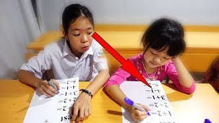 Hunter Kids Go To School Learn Colors MATH | Classroom Funny Nursery Rhymes