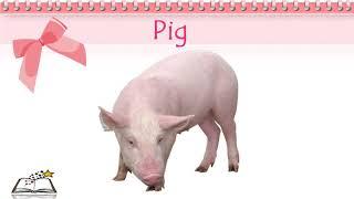 Изучаем домашних животных для детей на английском языке. English for children.  Learn Farm animals.
