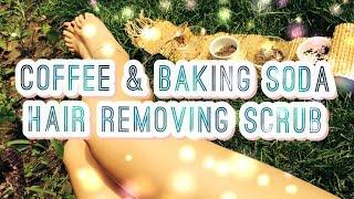DIY Coffee and Baking Soda Hair Removing Scrub