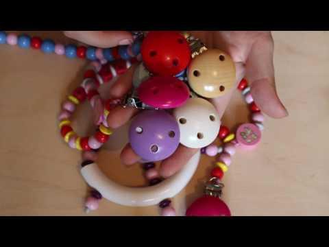 BABYS DESIGN- Schnullerketten Greiflinge Mobiles und Kinderwagenketten Zubehör Fürs Baby