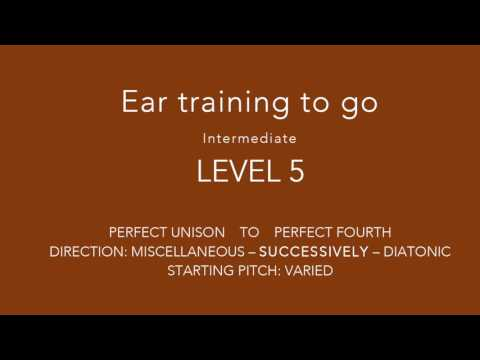 NEW !!! Special ear training - Interval training on the go