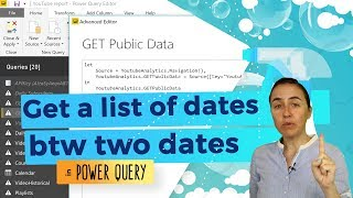 List dates between two dates in Power Query