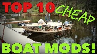 Top 10 CHEAP Fishing Boat HACKS!