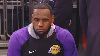 LeBron James Has Given Up On The Lakers As He Sits Far Away & Doesn't Care! Lakers vs Knicks