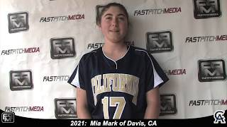 2021 Mia Mark First Base and Outfield Softball Skills Video