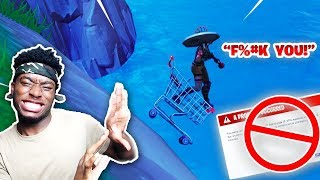 I SHOPPING CARTED MY TEAMMATE OFF THE MAP! FUNNIEST DUOS FORTNITE GAME EVER!