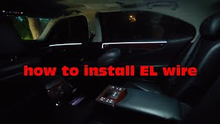 How to install el wire