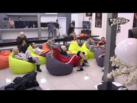 Zadruga 2 - Zadrugari gledaju seriju 'Zabranjena ljubav' - 06.12.2018. (видео)