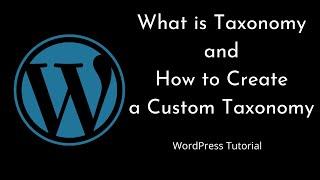 How to create a Custom Taxonomy    WordPress   Beginners Tutorial   Tutorial - 13