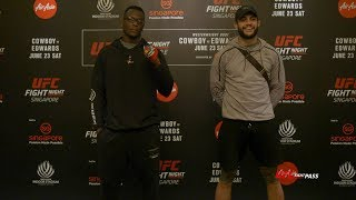 Fight Night Singapore: Ovince Saint Preux vs Tyson Pedro - Always Going for the First Round Finish
