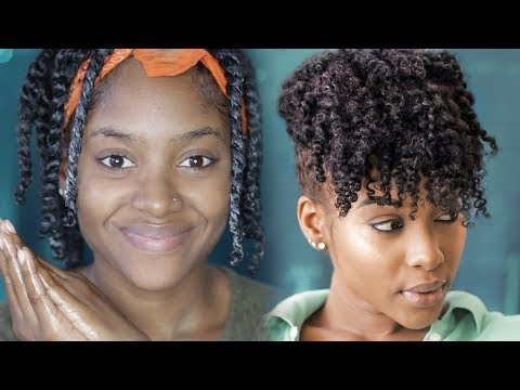 Twist Out Updo On My Natural Hair | PETITE-SUE DIVINITII